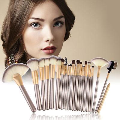 Pro 24 Pcs Makeup Brushes Cosmetic Tool Kit Eyeshadow Powder Brush Set+ Case 2