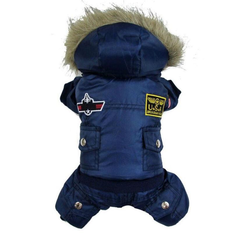 Winter Pet Dog Cat Hoodie Down Jacket Puppy Warm Coat Jumpsuit Hoody Clothes