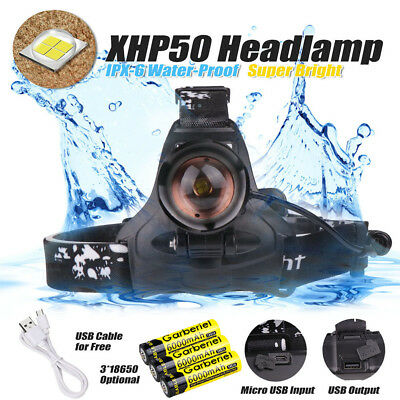 990000LM XHP70 LED Headlamp Zoom USB Rechargeable 18650 Headlight Super Bright 2
