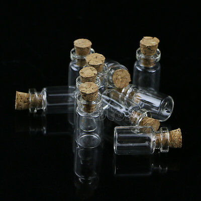 10/20/30 0.5mL Mini Small Tiny Clear Cork Stopper Glass Bottles Vials Wholesale 3