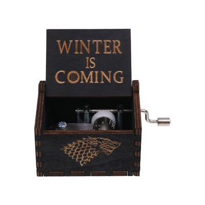 Game of Thrones Music Box Engraved Wooden Music Box Kids Interesting Toys Gifts 2