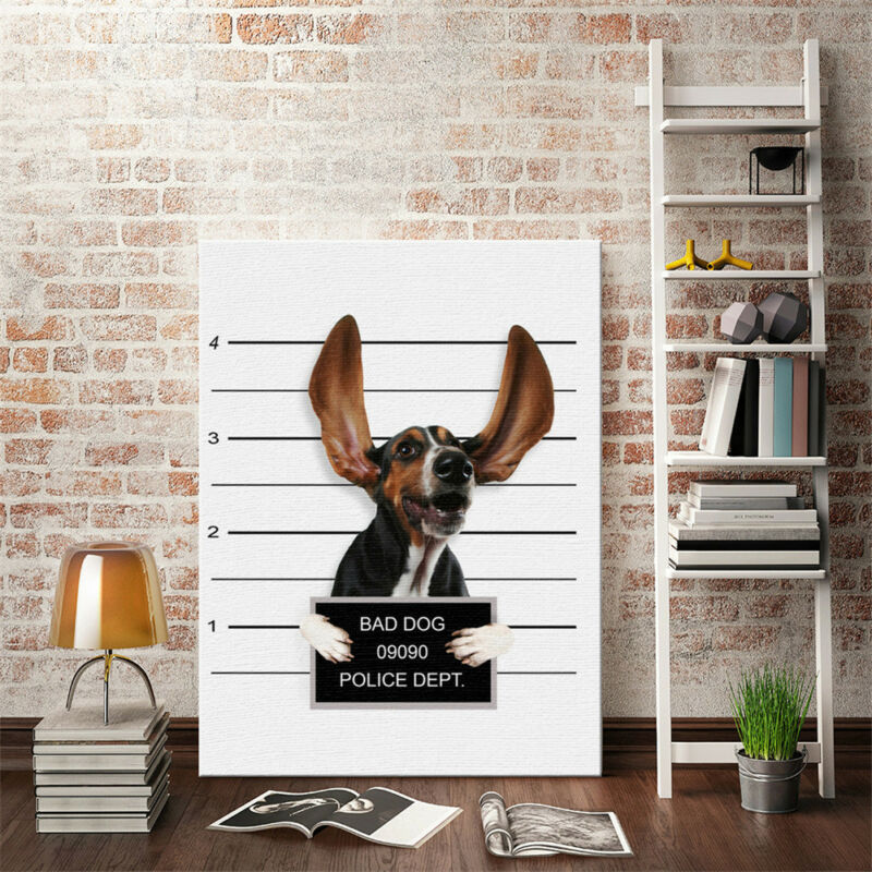 Cute Dog Canvas Art Wall Print Poster Modern Painting Decor Living Room Decor