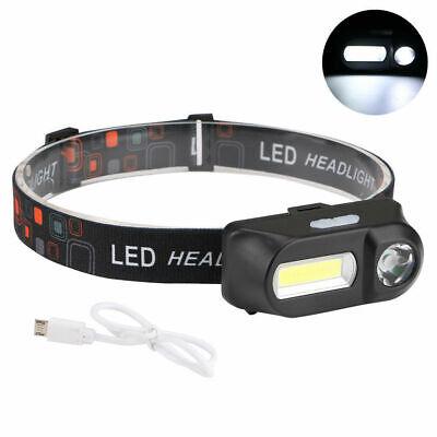 6 Modes USB Rechargeable COB LED Headlamp Headlight Head Light Torch Flashlight 7