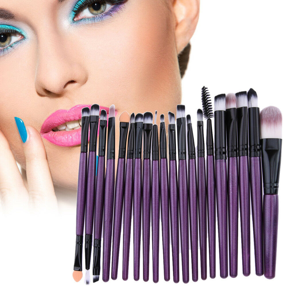 20pcs/Set Pro Makeup Brushes Kit Powder Foundation Eyeshadow Eyeliner Lip Brush 4