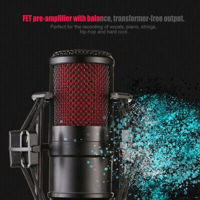 BM800 Condenser Microphone Audio Mic Stand Kit for Studio Recording Broadcasting 9