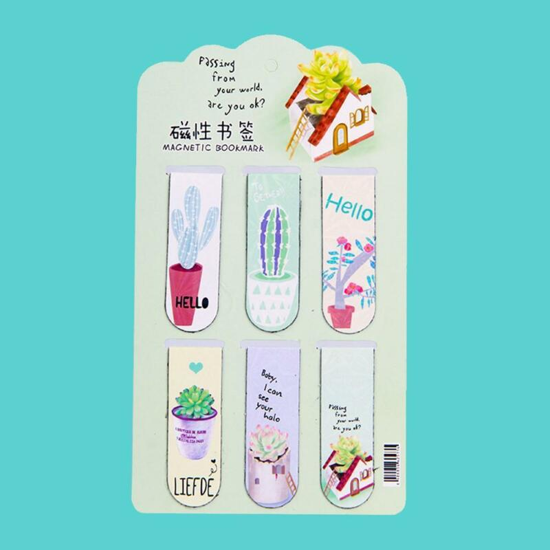 Fresh Cactus Magnetic Bookmarks Books Marker of Page-Stationery 2