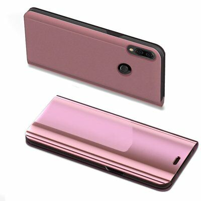 Luxury Mirror View Clear Stylish Flip PU Case Cover For Huawei P20 Lite P20 Pro 11