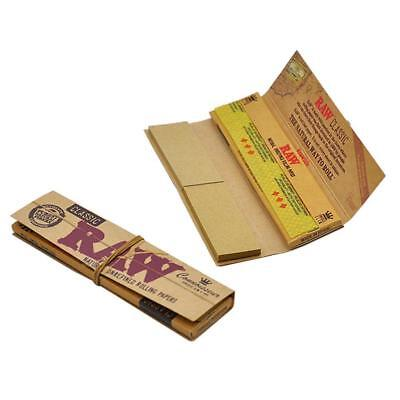 Raw Classic Connoisseur Kingsize Slim Papers + Tips - Smoking Tobacco Rolling 8