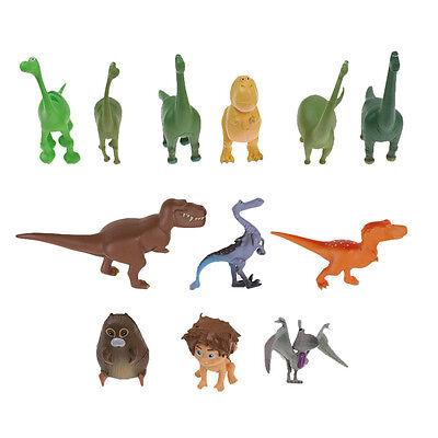 Set of 12 The Good Dinosaur Figure with Arlo Spot and Bonus PVC Toy Gift