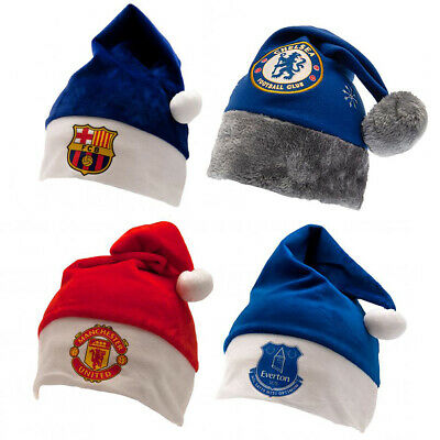 Football Santa Hat Christmas Xmas OFFICIAL Souvenir Party Dress Up Gift 2