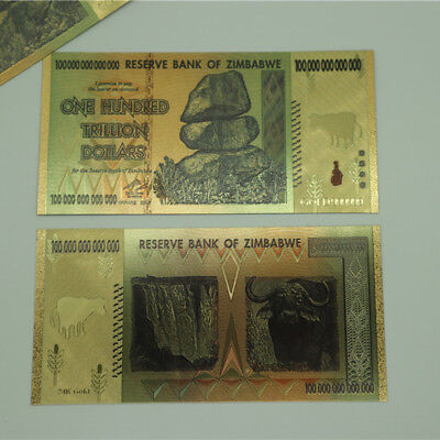 100 Trillion Zimbabwean Dollar Commemorative Banknote Non-currency Collection 8