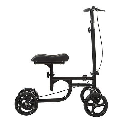 ELENKER All-Road Knee Walker Steerable Madical Scooter Crutch Alternative Black 4