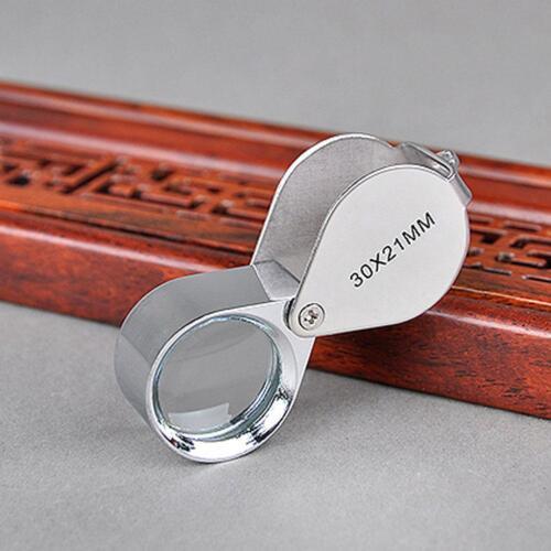 30x Juwelier Schmuck Vergrößerungs glas Reparatur Uhrmacher Lupe* ._DED D6J3 9