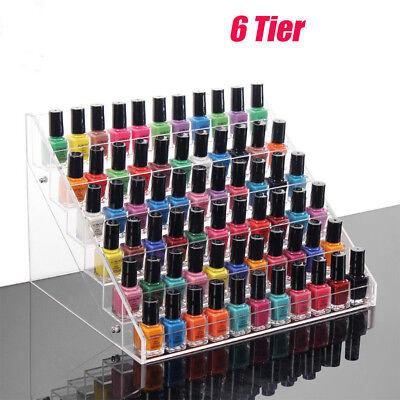 6 Layers Acrylic Nail Polish Rack Stand Holder Cosmetics Display  Organizer 2