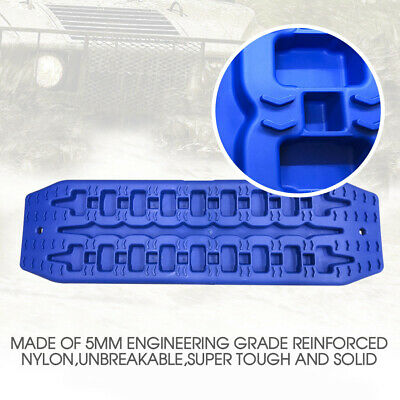 NEW Pair Recovery Tracks Sand Track 2pc 10T Sand / Snow / Mud Trax 4WD Blue 6