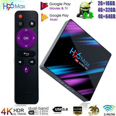 H96 Max RK3318 Android 9.0 32/64GB Quad Core 4K Media Player WiFi Smart TV BOX G 2