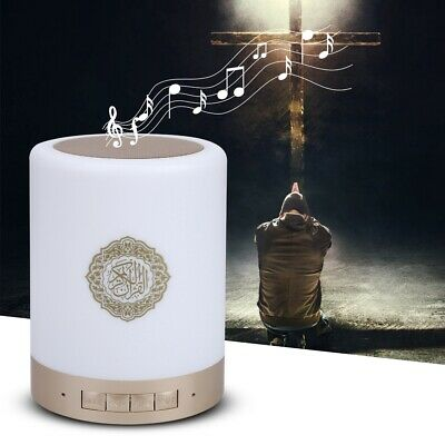 Portable Quran Wireless Bluetooth Speaker LED Touch Lamp TF Card FM Radio NEW 4