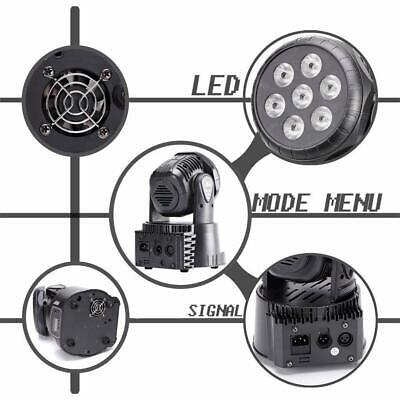 2x 105W RGBW Wash 7LED 9/14CH DMX Mini Moving Head Stage Light Lighting DJ Disco 8
