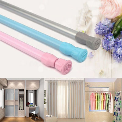 Extendable Telescopic Spring Loaded Net Voile Tension Curtain Rail Pole Rod Rods 2