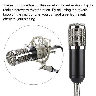 BM800 Condenser Microphone Audio Mic Stand Kit for Studio Recording Broadcasting 3