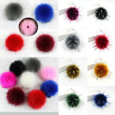 DIY Women Faux Raccoon Fur Pom Poms Ball for Knitting Beanie Hat Accessories Ak 3