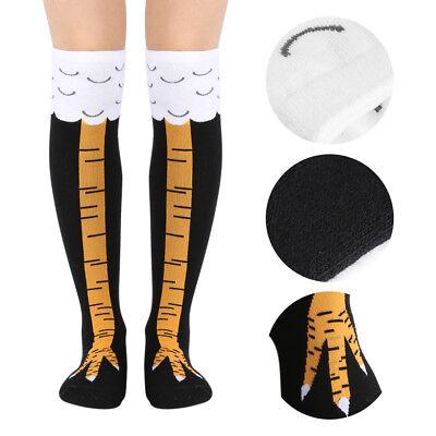 Womens Cartoon Animal Mens High Socks Novelty Chicken Legs Knee Fitness 3D