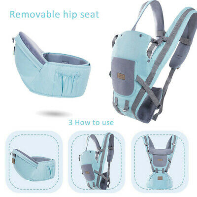 Ergonomic Infant Baby Carrier With Hip Seat Stool Adjustable Wrap Sling Backpack 9