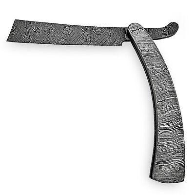 Handmade Sweeney Todd Barber Straight Razor by WHITE DEER Damascus Steel Knife 8