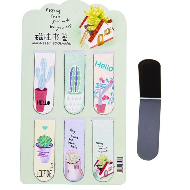Fresh Cactus Magnetic Bookmarks Books Marker of Page-Stationery 7