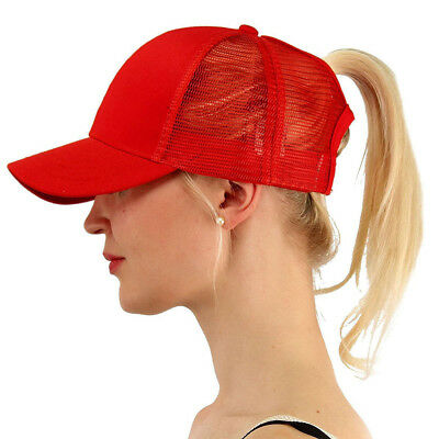 Glitter Ponytail Baseball Caps Women Messy Bun Adjustable Snapback Hip Hop Hat 9