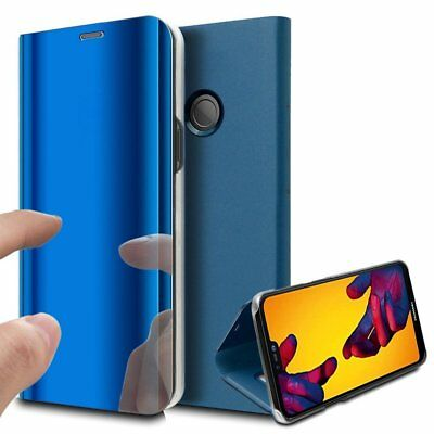 Luxury Mirror View Clear Stylish Flip PU Case Cover For Huawei P20 Lite P20 Pro 3