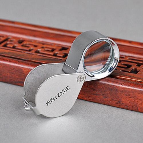 30x Juwelier Schmuck Vergrößerungs glas Reparatur Uhrmacher Lupe* ._DED D6J3 8