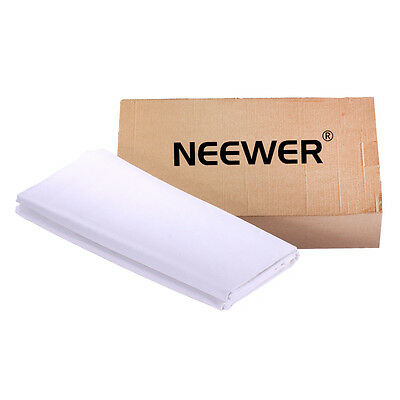 Neewer 9.8 x19.7ft Collapsible White Studio Muslin Backdrop Background 5