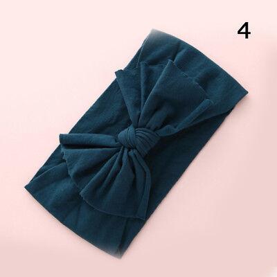 Baby Girls Kids Toddler Bow Hairband Headband Stretch Turban Knot Head Wrap H9 5