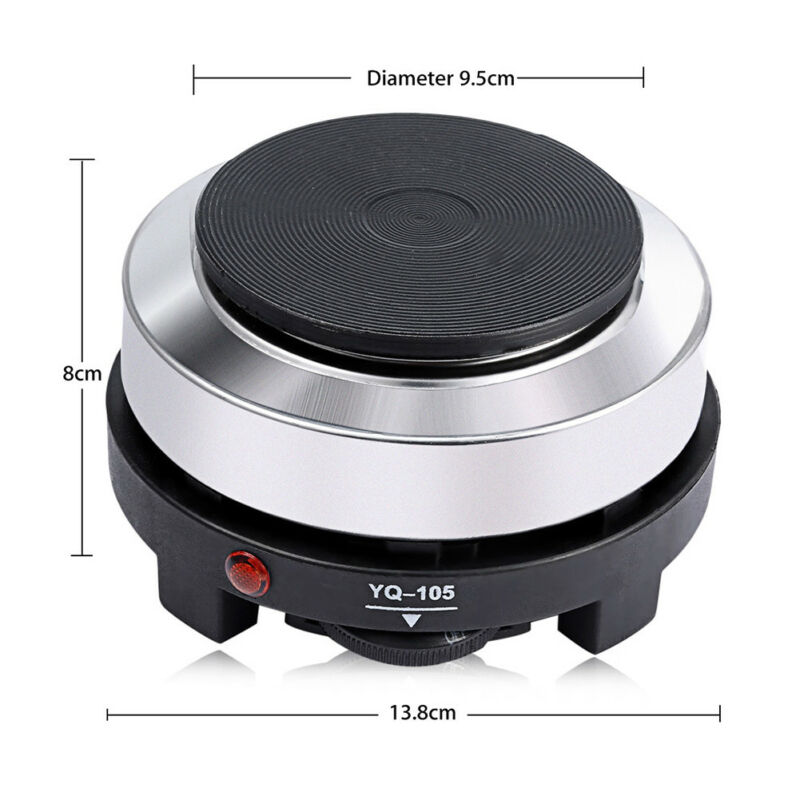 2 Of 11 Multifunctional Mini Stove Cooking Hot Plate Coffee Heater Electric 500w Black