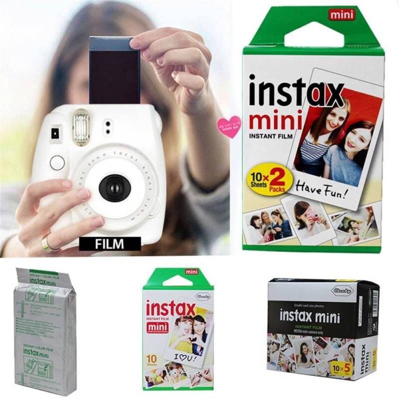 10X/50X Fuji Instax Mini Instant Weiß Film Für Fujifilm 8 25 50s 70 90 7s Kamera