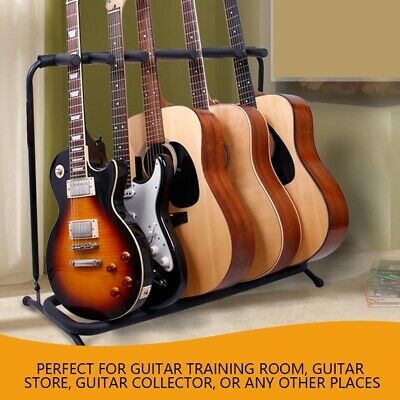 3/5 Way Multi Guitar Rack Padded Holder Ukulele Stand Electric Acoustic Bass 2