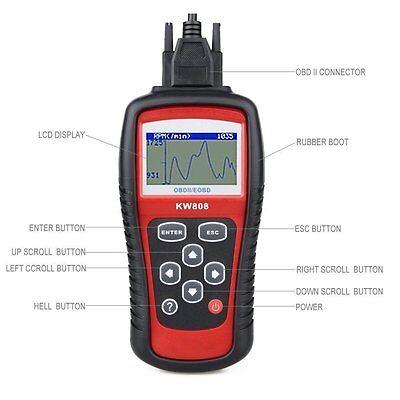 MaxiScan MS509 KW808 OBD2 OBDII EOBD Scanner Car Code Reader Tester Diagnostic 4