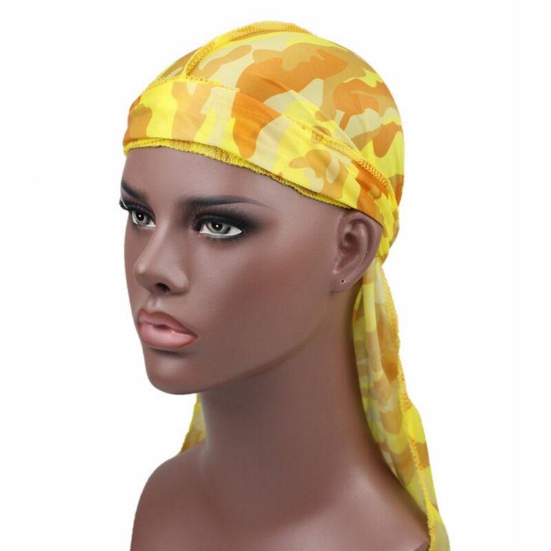 Mens Womens Camouflage Headwear Pirate Cap Hat Long Tail Bandana Turban Durag 8