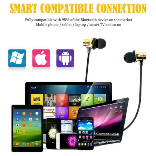 Cool bluetooth4.2 Earphone Headset Wireless Stereo Magnetic Earbud For All Phone 2