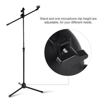 Professional Boom Microphone Mic Stand Holder Adjustable With 2 Free Clips UKGT 6