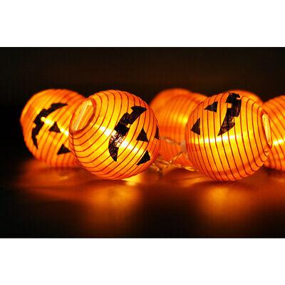 10 LED Pumpkin String Fairy Lights Lantern Party Home Props Halloween Decoration 8