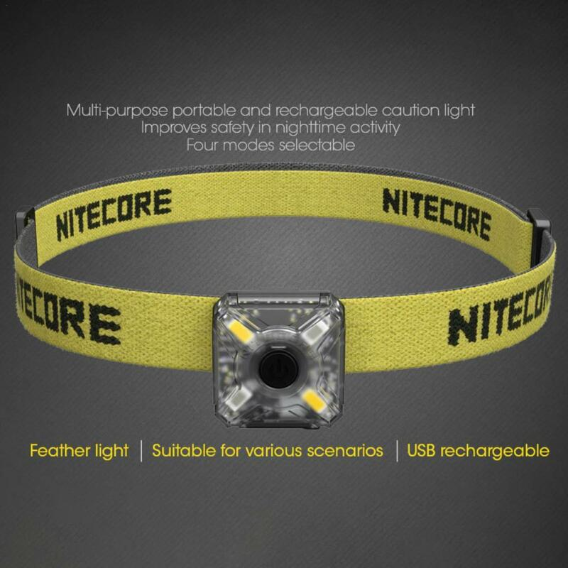 Nitecore NU05 Rechargeable LED Headlamp With Red And White Light Source
