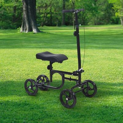 ELENKER All-Road Knee Walker Steerable Madical Scooter Crutch Alternative Black 6
