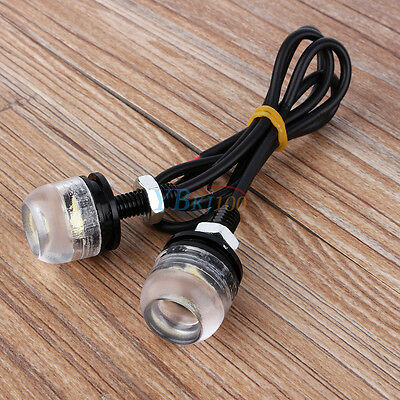 2PCS 12V White LED License Plate Screw Bolt Light Lamp FOR Car Motorcycle 2