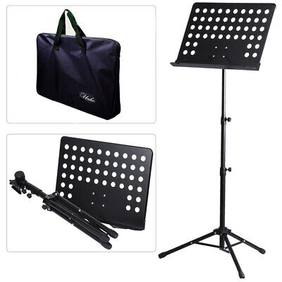 Orchestral Sheet Music Stand Tripod Height Angle Adjustment Portable Folding+Bag 7