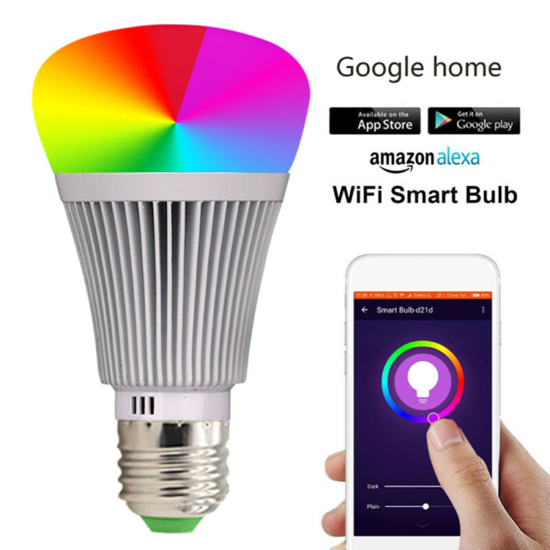 LED-Lampe E27Smart Dimmbare WIFI APP Fernbedienung RGB Home iOS Pro A 2