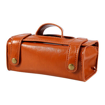 0758a27087 ... New Men s Brown Leather Travel Sport Pouch Case Shaving Brush Razor  Toiletry Bag 8