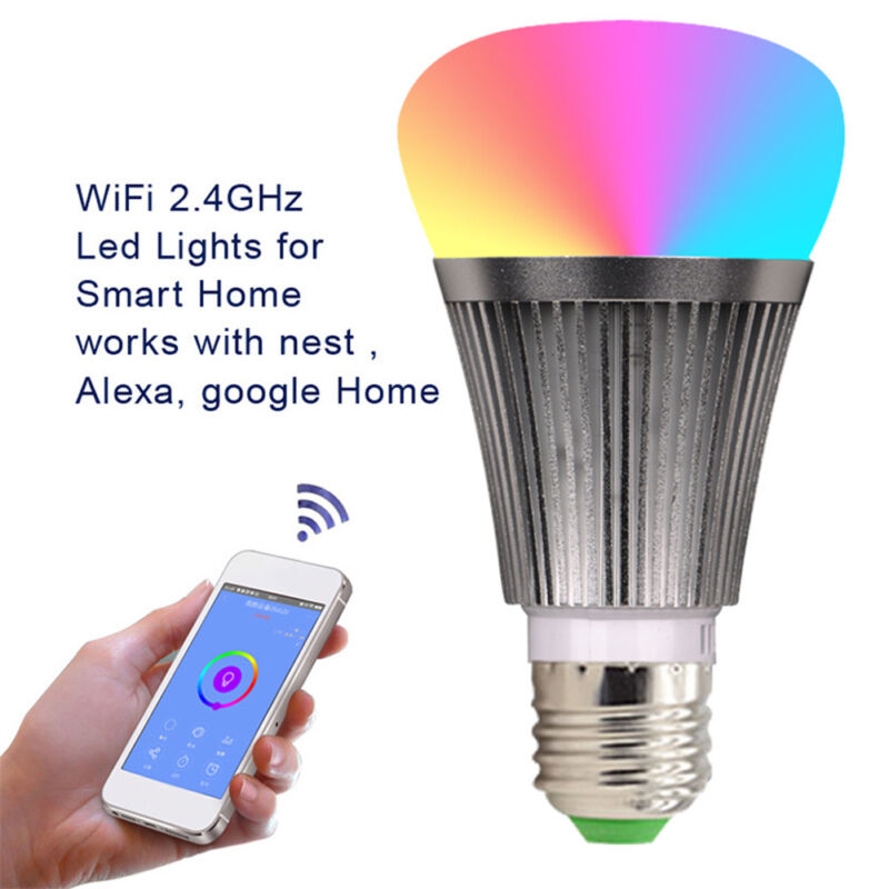 LED-Lampe E27Smart Dimmbare WIFI APP Fernbedienung RGB Home iOS Pro A 11