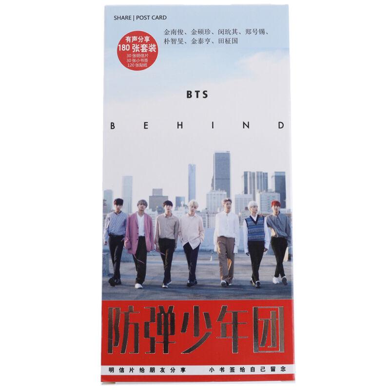 KPOP BTS LOVE YOURSELF 30pcs Postcards+30pcs Mini Cards+120pcs Card Stickers UK